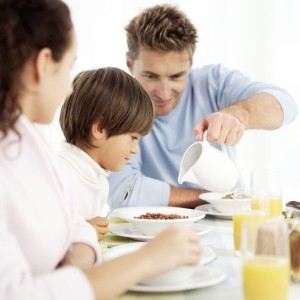 Parents play a crucial role in getting good eating habits