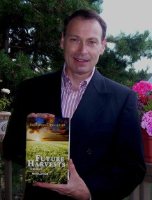 Christophe Pelletier proudly presenting his newly published book, Future Harvests
