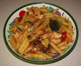 Penne Primavera with Chicken