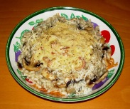 Risotto Carbonara with Mushrooms