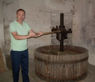 At the century-old family wine press