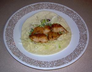 Fish Taco with Lime, Cilantro & Yogurt Salsa