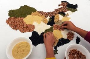 China Food Map (Photo: Zhang Yanlin/Asianewsphoto)
