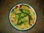 papardelle shrimp & asparagus