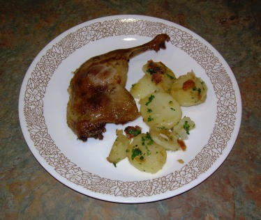 Duck Confit with Sarladaise Potatoes